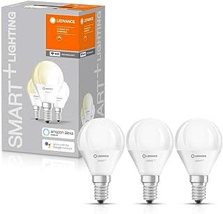 LEDVANCE Lámpara LED inteligente con tecnología WiFi, casquillo E14, regulable, blanco cálido (2700 K), sustituye a las lámparas incandescentes por 40W, Mini Bombilla SMART+ WiFi Regulable, pack de 3