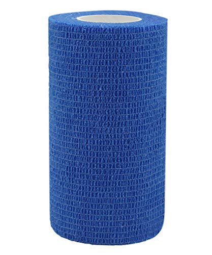 Risscly blu 10cm benda elastica coesiva adesivi salvapelle sport benda adesiva nastri per fasciature benda elastica adesiva 6 rotoli