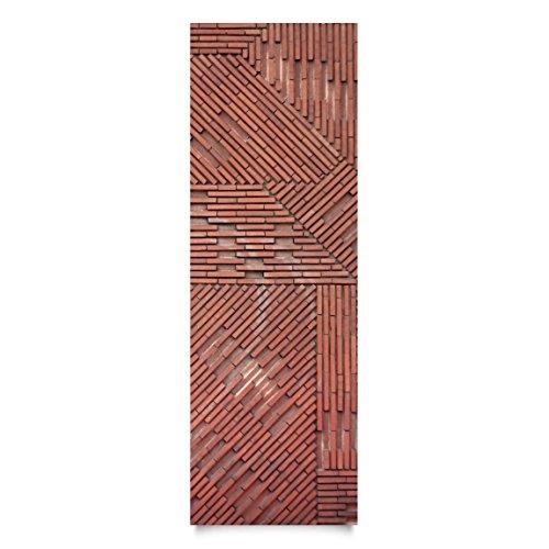 Film collant - Design brick red, film de bricolage, film de meuble, film de verre, film design, film décoratif, film de bois, DIY, cuisine, séjour, commodes, chambre d'enfant, Dimension: 300cm x 100cm