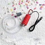 Adeeing Mini USB portátil acuario tanque de peces oxígeno bomba de aire silencio ahorro de energía suministros accesorios, rojo