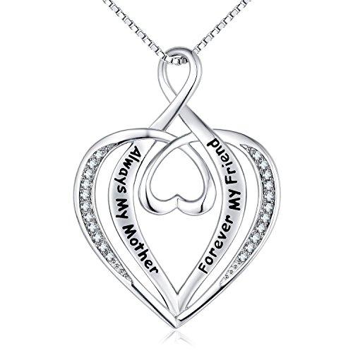 Pandora Perfect Mum Silver Pendant Charm with Pink & Purple Crystals