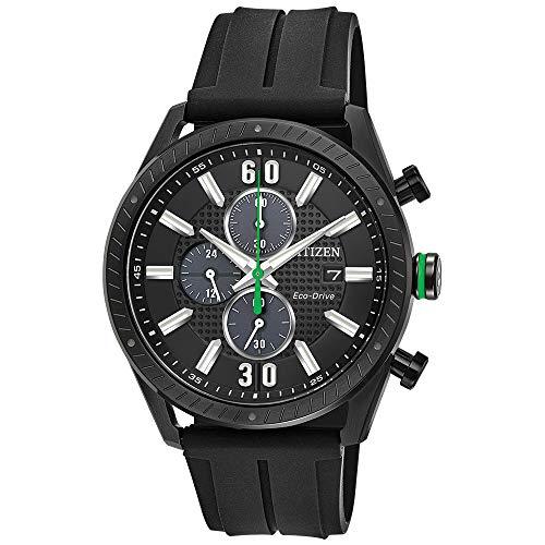 Citizen CTO Black Dial Polyurethane Strap Men's Watch CA0665-00E