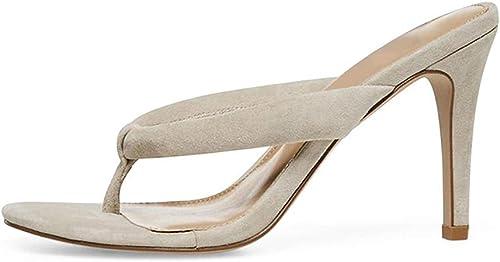 chaussures Tongs pour Femmes Femmes Sandales à Talons Hauts Pantoufles Ronde Tête Chaussures Femmes Vanity Robe Mode Sandales Bout Ouvert Pantoufle  obtenir la dernière