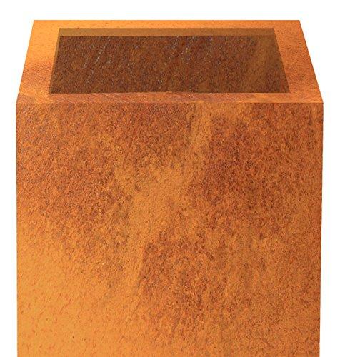 Preisvergleich Produktbild Palatino Exclusive Line Pflanzkübel Nora würfelförmig,  Corten-Stahl 40 x 40 x 40 cm,  modular