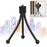 Hrayzan Webcam Tripod,Adjustable Camera Stand Tripod,Ultra Stability Lightweight Flexible Mini Tripod Small and Portable for Conferencing,Video Chacting,Black