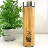 eBuyGB Taza de Viaje de bambú Personalizada, Taza de Viaje de Baby Yoda de 500 ml con temática de Star Wars, Regalo Divertido para tía, tía (Yoda Best Auntie)