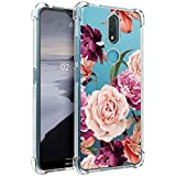 Osophter for Nokia 2.4 Case Flower Floral for Girls Women