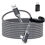 Cable for Oculus Quest 2 Link, QIYO 16FT USB 3.2 Gen 1 to Type C Cable for Oculus Link Compatible for Oculus Quest, High Speed Data Transfer and Fast Charging for VR Oculus Quest Headset and Gaming PC