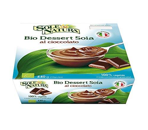 Sole e natura Dessert Soia Al Cioccolato - Confezione da 4 x 110 gr