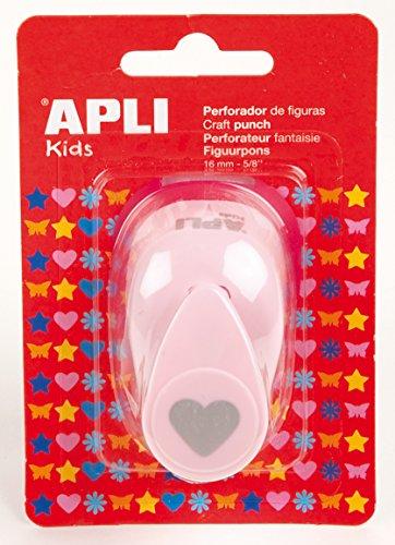 APLI Kids 13068 - Perforadora para papel figura corazón, 16 mm