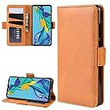 PROTECTIVECOVER+ / for HUAWEI P30 Hebilla magnética de doble lado Funda de cuero de la tapa del sopleto con soporte y ranuras tarjetas y marco de fotografía , Fashion Phone Funda Para Protector