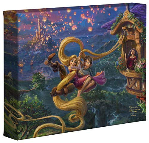 Thomas Kinkade Studios Tangled Up in Love 8 x 10 Gallery Wrapped Canvas