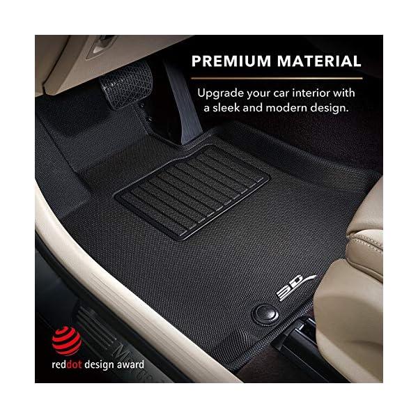 3d maxpider all-weather floor mats for tesla model 3 2020-2021 custom fit car floor liners, kagu series (1st & 2nd row…