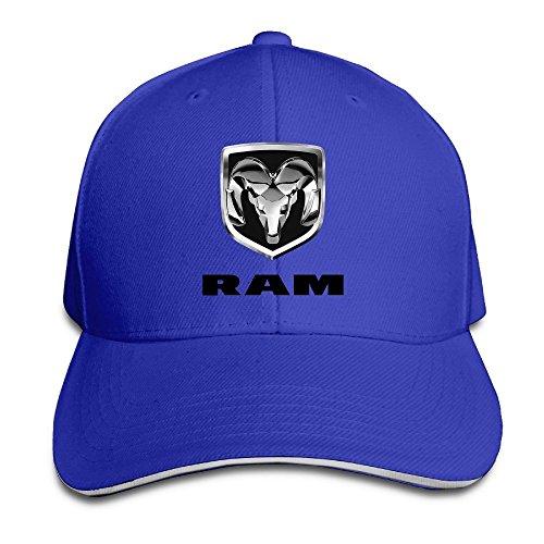 Hittings Bang Dodge Ram Logo Sandwich Baseball Cap Hats Royalblue