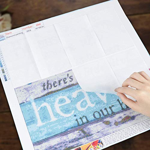 24 Stück Deckblatt für DIY 5D Diamond Painting, Diamant Lackierwerkzeuge Antihaft-Deckblatt Ersatzpapier Zubehör von Diamond Arts für Erwachsene