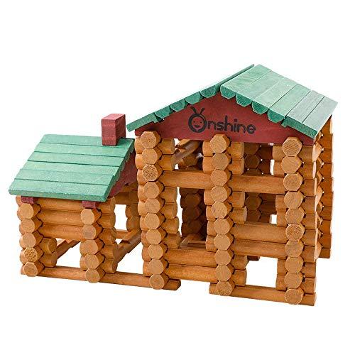 90 Pedazos Juguetes de Construcción de Madera para Niños, los Primeros Juguetes de Bloques de Construcción para Mis Pequeños Hijos 【E20200121】