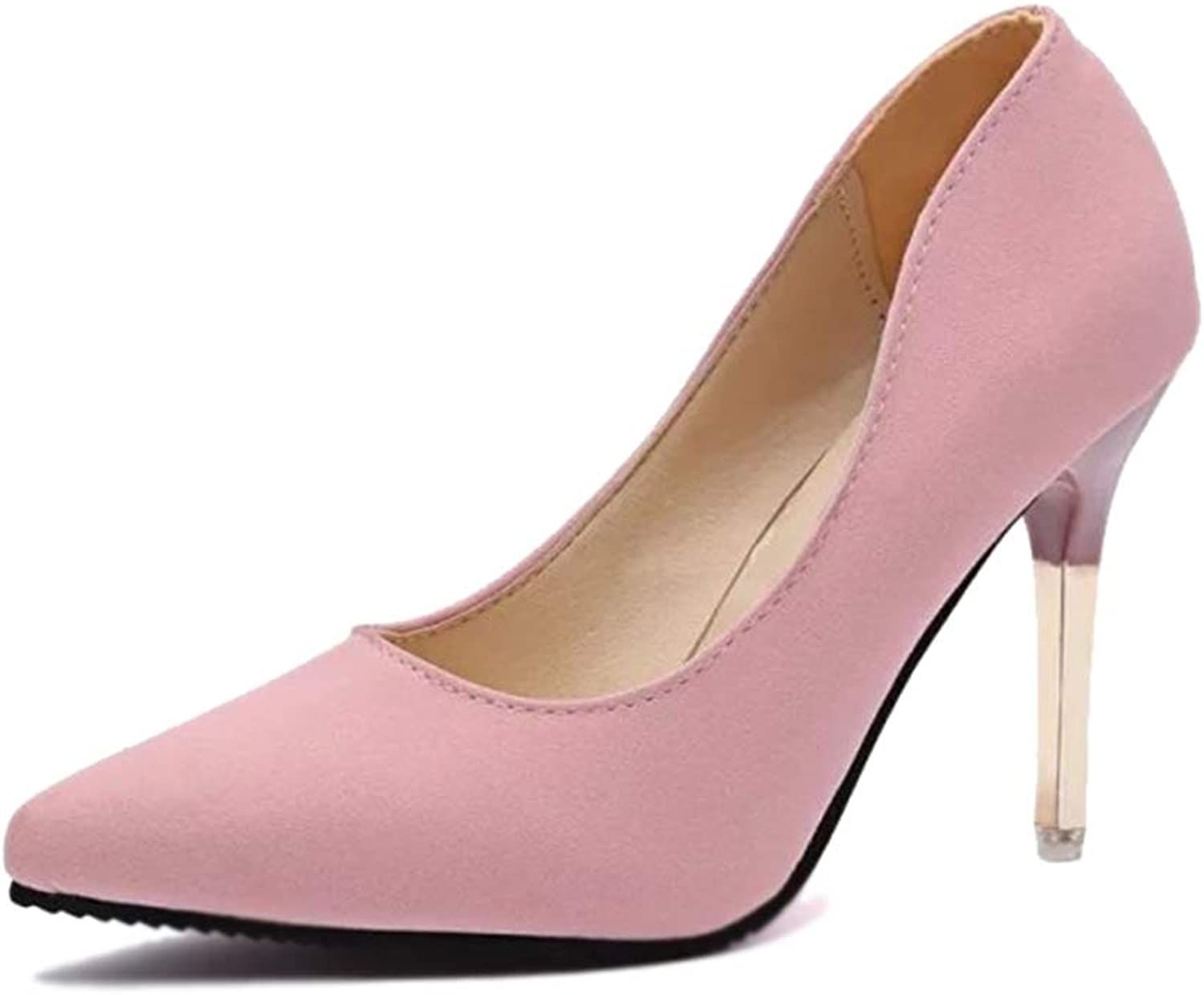 Women's Pumps,Simple Solid color Pointed Toe Breathable Work High Heels