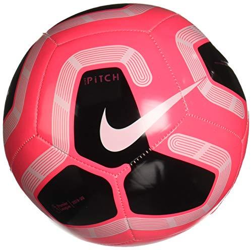 Nike PL NK PTCH-FA19 Fußball, Unisex, Erwachsene, Mehrfarbig (Hot Punch/Black/White/Metallic Silver), 5