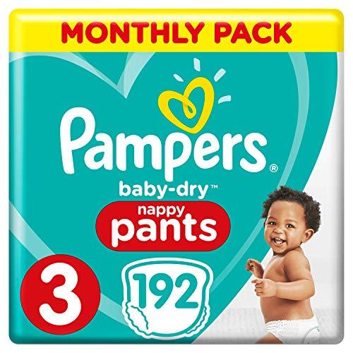 Pampers Baby-Dry Windelhose Größe 3 192 Windelhöschen 6-11 kg Monatspack