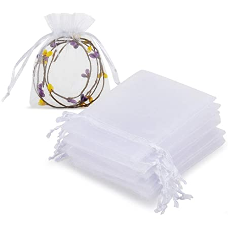 100-400 ORGANZA BAGS 7x9cm Small Wedding Party Favour Gift Candy Jewellery Pouch