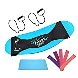 Dremond Balance Board with 7 Resistance Bands (2 with Handles) and Anti-Slip Mat, Core Balance Trainer Board, Home Workout Equipment for Yoga, Full Body Exercising, Stability, Twisting Training