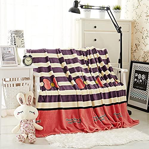 KLily Mantas Simples Hogar Dormitorio Sala De Estar Aire Acondicionado Manta Oficina Manta para La Siesta De Los Niños Franela Se Puede Lavar