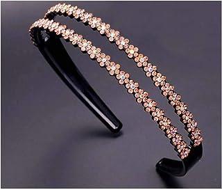 Headband Crystal Hairhoop Non-slip Teeth Hairband Hair Accessories for Women #10