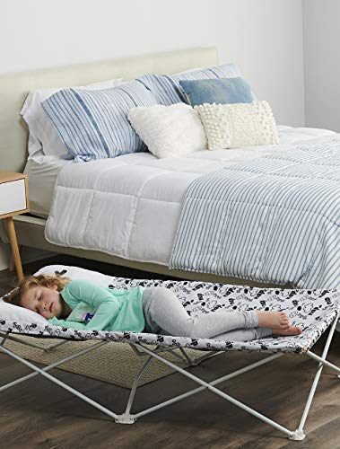 Regalo My Cot Pal Extra Long Portable Toddler Bed - Eye Lashes, White, Small Single