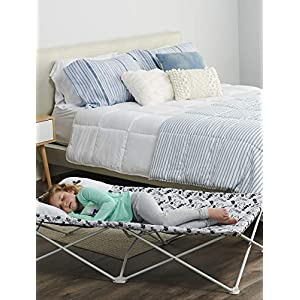 Regalo My Cot Pal Extra Long Portable Toddler Bed – Eye Lashes, White, Small Single
