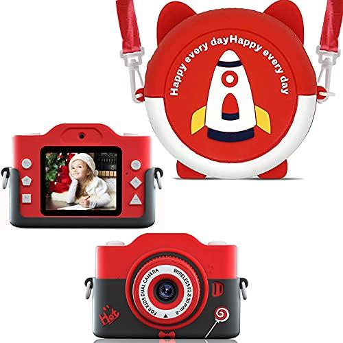 子供用デジタルカメラ キッズ カメラ 前後2400万画素 8倍ズーム トイカメラ 2.4インチIPS画面 1080P 録画/連写/タイマー撮影/自撮り 付き USB充電 子供のおもちゃ ミニカメラ 子供プレゼント 知育教育 (black)
