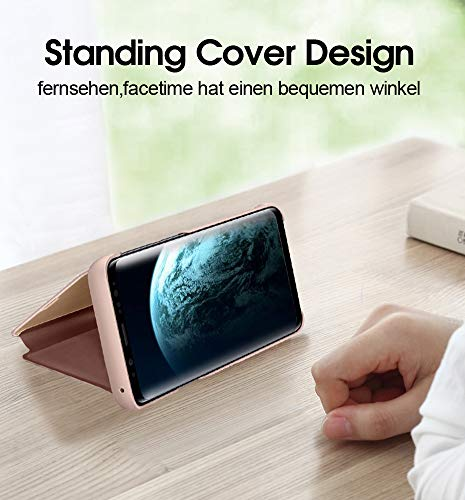 Kompatibel mit Huawei P20 Hülle, Clear View Protective Standing Cover Huawei P20 Handyhülle Flip Cover Spiegel Schutzhülle für Huawei P20 Handyhülle (1) - 4