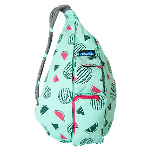 KAVU Rope Bag Shoulder Sling Cotton Crossbody Backpack - Watermelon,One Size