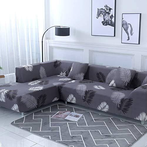 ASCV Funda de sofá Funda de sofá elástica Funda de sofá para Sala de Estar Funda de sofá de Esquina en Forma de L Chaise Longue A7 4 plazas