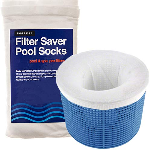 Impresa Products 20-Pack of Pool Skimmer Socks - Perfect Savers for Filters, Baskets, and Skimmers - The Ideal Sock/Net/Saver to Protect Your Inground or Above Ground Pool