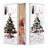 Caka Christmas Case for Galaxy Note 10 Plus (Not Note 10) Glitter Case Bling Liquid Silver Liquid Luxury Quicksand Flowing Soft TPU Girls Women Glitter Case for Samsung Galaxy Note 10+ Plus 5G (Tree)