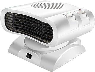 WCYHEATER Calentador, Eléctrico Ventilador De Radiador De Calentador De Aire del Movimiento del Cabezal del Calor De 500W 220V,Viento Cálido/Natural para Uso En Oficina Y En El Hogar-Blanco