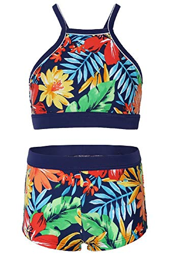 La-V Mädchen Bikini Zweiteilig Floral Karibik/Größe 164/170