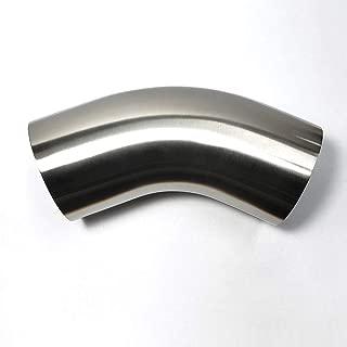 Stainless 45° Mandrel Bend Elbow - 1.5D Loose Radius - 16GA/.065