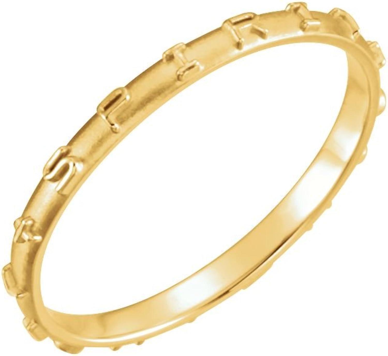 Beautiful Yellow gold 14K Yellowgold Come Holy Spirit Ring