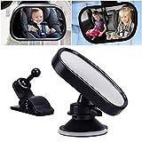 Auto pour bébé Miroir, Rétroviseur intérieur pour bébé Miroir Auto pour enfant antidérapant avec ventouse, Peut être tourné à 360 °,Installation facile, Anti-oscillation, ajustement universel