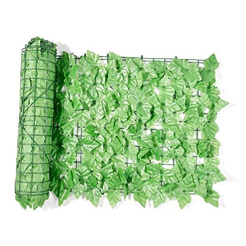 Künstliche Efeu Heckenrolle, 1 x 3M Künstliche Hecke Sichtschutzhecke Traubenblatt Wasserdicht & Winddicht Künstliche Hecke Sichtschutzhecke Terrasse Wanddekoration