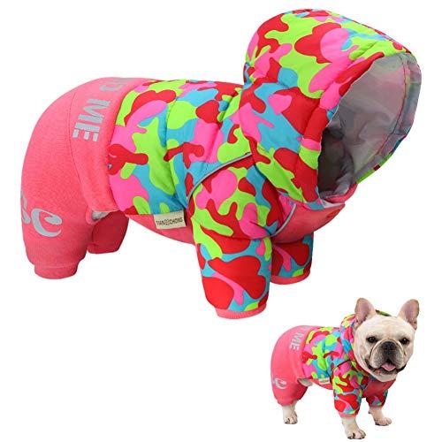 N/A Hundekleidung Warme Winterhunde Kleidung Mantel Reflektierende Hunde Wintermantel Jacke Bulldogge Haustier Kleidung Samll Medium Dogs Outfit Jumpsuit WarmesHaustierhundegeschenk