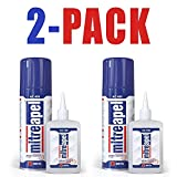 MITREAPEL Super Ca Glue (7 ounces) with Spray Adhesive Activator (27 ounces ) -Crazy Clear Craft Glue for Wood, Plastic,...
