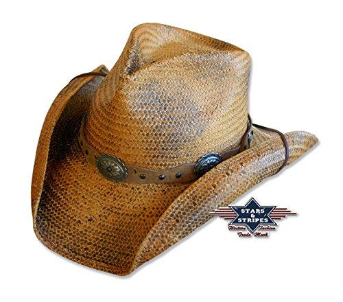 Stars & Stripes Western Strohhut Red Rock Gr. M Hut Western Wild West Line Dance Kleidung