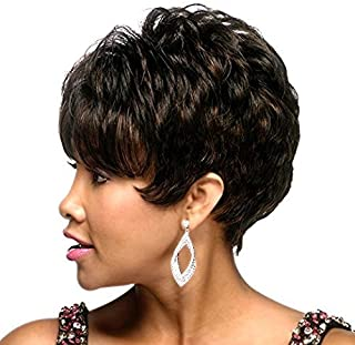 Natural Hairpieces Women's Short Curly Wig Synthetic Heat-resistant Wig for Daily Use