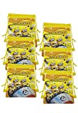 Cartoon Minions Party Bags for Kids Boys Drawstring Bag Gift Party Favors, Yellow 6 Pack