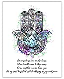 Hamsa Hand of Fatima Typography Wall Art...