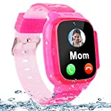 Kids Waterproof Smart Watch Phone LBS Tracker for Boys Girls 4-12 Years Old, 1.5' HD Touch Screen Gizmo Watch with 2 Way Call SOS Camera Safe Zones Flashlight Alarm Clock Learning Toy