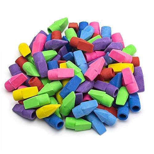Pencil Erasers, Sooez Pencil Top Erasers Cap Erasers Eraser Tops Pencil Eraser Toppers School Erasers for Kids School Supplies for Teachers Eraser Pencil Erasers, (120 PACK)