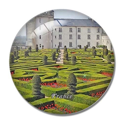 'N/A' France Magnet France Villandry Castle 3D Fridge Magnet Crafts Souvenir Crystal Refrigerator Magnets Collection Travel Gift
